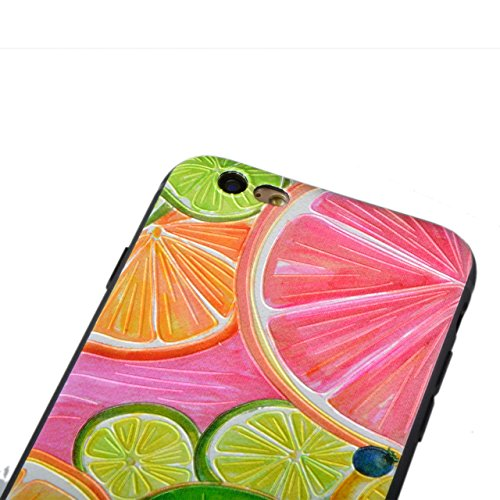 iPhone 6s Plus Hülle, Sunroyal TPU 3D Handyhülle Muster Case Cover Für iPhone 6 Plus / iPhone 6s Plus 5,5 Zoll (Bunt Frucht) Silikon Backcover Case Handy Schutzhülle - Cover Cartoon Garten Aquarell De Pattern 10