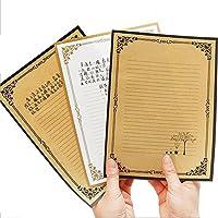 24pcs Vintage Design Carta Carta Carta Da Lettera Lettera Set, Bianco - Carta Stationery Set