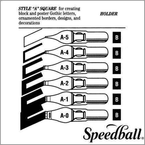 Speedball A3Penne, Confezione da 12, Colore: Argento