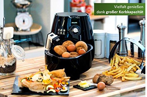 Philips Airfryer HD9220/20 Heißluftfritteuse (ohne Öl, das Original für 1-2 Personen) schwarz -