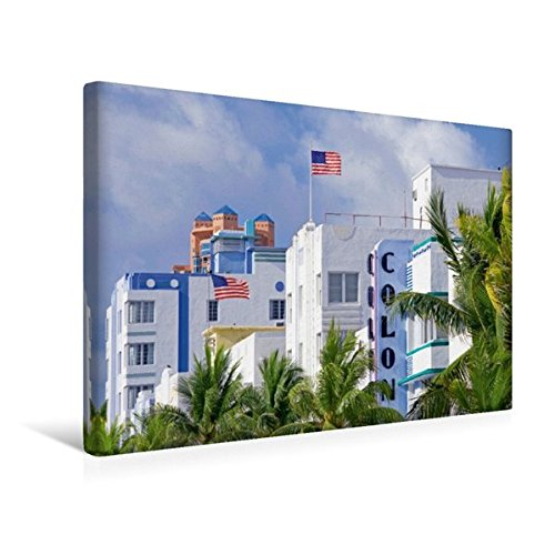 South Beach Miami Art Deco (Premium Textil-Leinwand 45 cm x 30 cm quer, Schöner Wohnen Der Art Deco District  in South Beach | Wandbild, Bild auf Keilrahmen, Fertigbild auf ... Beach, Miami, Florida, USA (CALVENDO Orte))