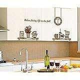 ufengke® Vajilla Utensilios de Cocina Personalizado Pegatinas de Pared, Tazas y Tazones Termo Etiquetas de la Pared / Murales Para Cocina Comedor