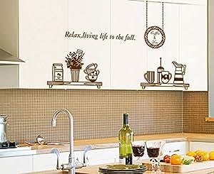 ufengke personalisierte geschirr k che wandsticker schalen tassen und thermos abnehmbare. Black Bedroom Furniture Sets. Home Design Ideas