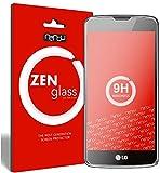 nandu I ZenGlass Flexible Glas-Folie für LG K8 LTE Panzerfolie I Bildschirm-Schutzfolie 9H I (Kleiner Als Das Gewölbte Bildschirm)