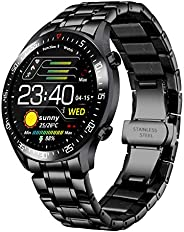 Smartwatch da uomo, fitness tracker con pressione sanguigna, ossigeno cardiaco, impermeabile IP68, contacalori