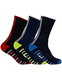 Men's PO3 Regular Combed Cotton Terry Sports Socks
