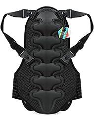 Pellor Protector de Espalda Anti-Caída Chaleco Equipo de Protección para Motocicleta Bicicleta Carreras Esquí Patinaje de Equitación (Negro, L)