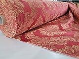 MIDE Tessuto Arredamento Damascato VAR. Rosso: SCAMPOLO, Copri Divano, COPRILETTO, Foulard (SCAMPOLO)