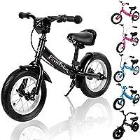 Deuba Kinder Laufrad - ab 2 Jahre   Farbe & Modellwahl   mit Bremse   höhenverstellbar   ergonomischer Sattel   für Mädchen & Jungen