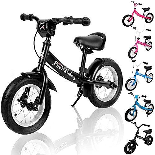 Deuba Kinderlaufrad Street Pirate (Reifen Fahrrad 12 Rad Zoll Und)