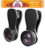#2: Mpow 3 in 1 Clip-on Lens Kit for Mobile Carmera with 180 Degree Fisheye Lens+10X Macro Lens,+0.65x Wide Angle Lens High Definition for Iphone5/5s/6/6s,Oneplus,Redmi/MI,Vivo,Oppo,Moto,Samsung,Lenovo,Lumia and More