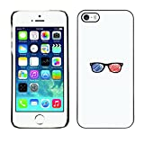 // PHONE CASE GIFT // Duro Estuche protector PC Cáscara Plástico Carcasa Funda Hard Protective Case for iPhone 5 / 5S / Gafas 3D /