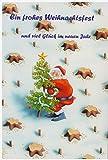 Lustiges Weihnachts Karten Set/6 Karten Weihnachten Fun X-Mas Weihnachtskarten Klappkarte