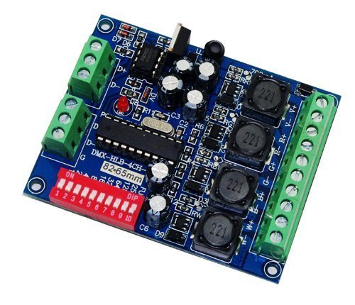 Constant Current 350mA High Power Controller DMX 512 RGBW 4 Channel Decoder DC5V-36V