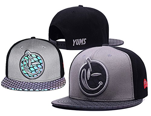 yums-classic-comfort-snapback-hat-adjustable-fashion-cap-grey-2-one-size