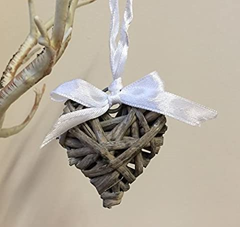 Rustic Wicker Willow Hanging Heart Vintage Wedding Wreath Small Chic Decoration 5cm