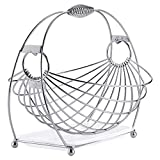 Yjdr Stainless Steel Wire-Frame Carrello, Piatto di Frutta Cestino di Frutta Rotondo del Nastro Metallico di Verdure Ciotola Creativo Elegante Candy Dish for Living Room (Color : Ellipse)