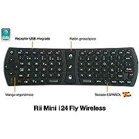 Rii Mini i24 FLY Wireless (layout Español) - Mini teclado con ratón giroscópico para