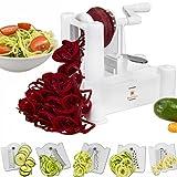 Brieftons 5-Blade Spiralizer: Strongest-and-Heaviest Duty Vegetable Spiral Slicer, Best Veggie Pasta Spaghetti Maker