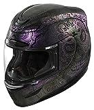 Icon Airmada Chantilly Opal - Casco de moto, color morado