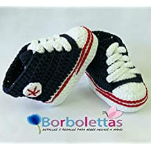 5e699ca519d5 Patucos para Bebé Recién Nacido tipo Converse