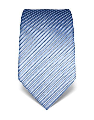 Vincenzo Boretti Herren Krawatte reine Seide gestreift edel Männer-Design gebunden zum Hemd mit Anzug für Business Hochzeit 8 cm schmal/breit flieder