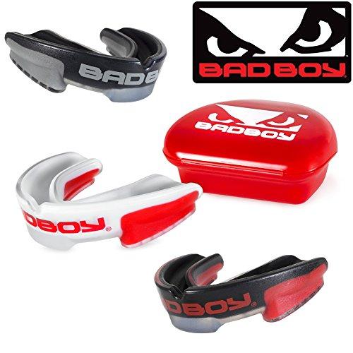 Bad Boy Mundschutz Multi-Sport - Mund und Zahnschutz - Mouthguard,Zahnschützer,Mundschutz (White/Red)