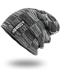 Sombrero de Punto de Invierno de Punto para Hombre Turbante Gorras Skullies  Balaclava Sombreros para Mujer 48e9ba1293a