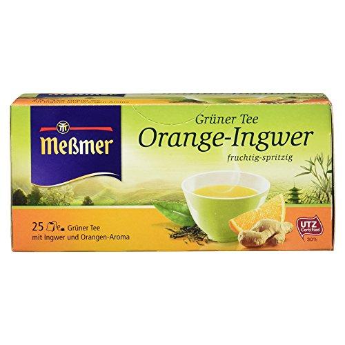 Grüner Ingwer Tee (Meßmer Grüner Tee Orange-Ingwer, 25 Beutel, 6er Pack (6 x 44 g))