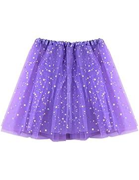 Mini Falda De Danza Ballet Mujer LHWY, Faldas De Estrellas Estampado Faldas De Tul Gasa Soplo