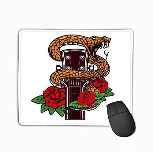 Mouse pad Guitar Head Snake Roses Design Element Poster Card Banner Emblem t Shirt Guitar Head Snake Roses Design steelseriesKeyboard