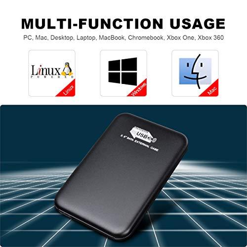 2to, Bleu YOOSUN Disque Dur Externe 2to USB 3.0 Disque Dur Externe pour Mac,PC,Windows Apple,Xbox One et PS4