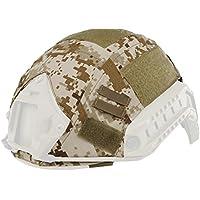 haoyk al aire libre militares camuflaje táctico para Airsoft y Paintball Gear combate rápido casco cubierta, AOR1
