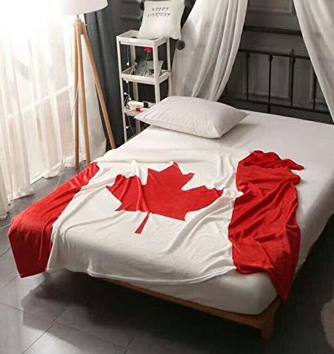 HenLooo Flag Blanket Luxus Korallenrote Fleece-Decke, Sofa Couch Blanket Warm Bed Blanket Cosy Soft Plüsch, Reise Decke,Canada,150cm*200cm -