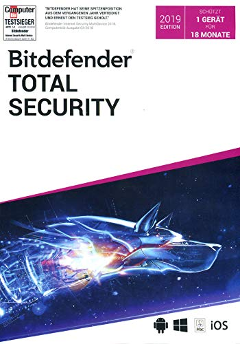 Bitdefender Total Security 1 Gerät / 18 Monate|Standard|1|18 Monate|PC+Mac+iOS+Android|Download|Download