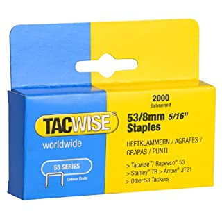 Tacwise Heavy Duty 53 Series 8mm Staples for Staple Gun (2000)