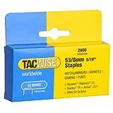 Tacwise Agrafes de Type 53 / 8 mm Galvanisées (Boîte de 2 000)