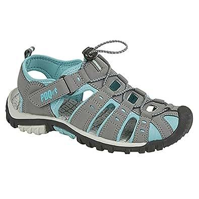 PDQ Damen Sport Sandalen mit Toggel und Klettverschluss (36 EU) (Schwarz/Pink) yRJgJgc
