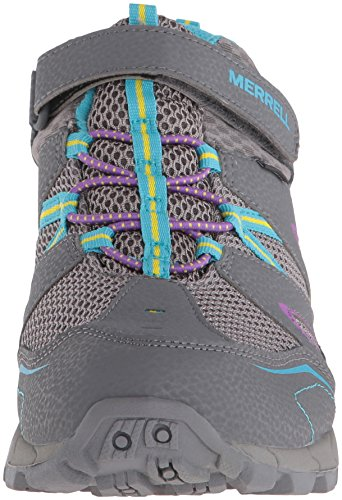 Merrell Hilltop Mid Quick-Close, Chaussures de Randonnée Hautes Fille Gris (Grey/Multi)