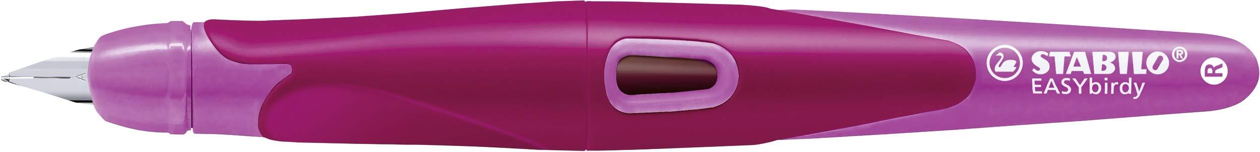 Blister STABILO EASYbirdy Penna Stilografica Ergonomica Rosa//Magenta per Destrimani