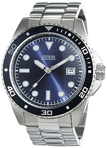 Guess Herren-Armbanduhr Analog Quarz Edelstahl W0610G1 -
