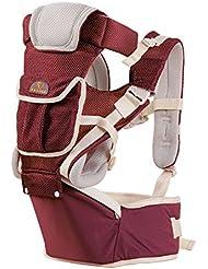 MEIMEI®Multifuncional baby sling lumbar silla cuatro estaciones permeabilidad del aire . wine red