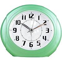KHSKX Creative sveglie, muto orologio sul comodino, orologio di luci notturne, studenti sveglia elettronica, orologio pigro pacchetto mail , Green