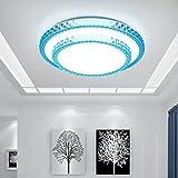 Moderne LED-Leuchten sind einfach und in warmen Intelligente electrodeless dimmen Wohnungseinrichtung Wohnzimmer, Blau Weiß 24W 40 cm