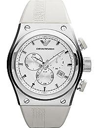 Emporio Armani Emporio ARMANI AR6103 - Reloj para hombres, correa de silicona color blanco