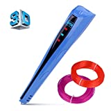 Kuman Newest Version 3D Printing Pen With LCD Screen for Doodling Drawing 3D Pen Tool with 2* 1.75mm PLA Filament- As DIY Gift 3D Printers (Blue) Manufacturer: Kuman
