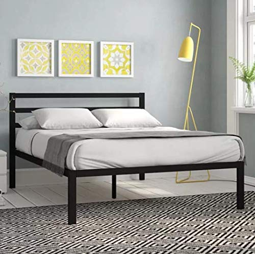 Bed Frame Bemott Modern Design with Wooden Slats (Weight Capacity: 544 Kilogram, Assembly Required) (Double)