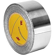 """TapeCase 4254.72""""x 60yd brillante plata aluminio/acrílico cinta adhesiva, papel de aluminio tape-converted de 3M, 65–300Degree F rendimiento Temperatura, 0,0046"""" de grosor, 60m longitud, 4.72"""", de ancho,"""