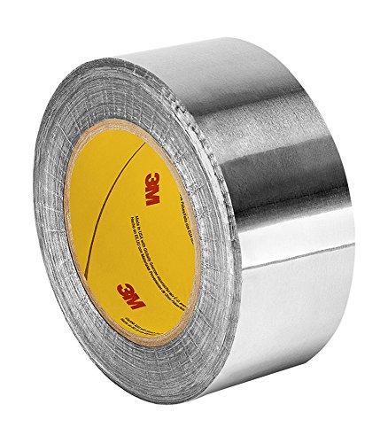 TapeCase 427 Aluminium-Klebeband, 7 cm x 60 m, glänzendes, silbernes Aluminium/Acryl-Klebeband, ausgekleidetes Aluminiumfolienband, umgewandelt von 3M 427, 65-300 Grad F Leistungstemperatur, Rolle