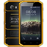 Kenxinda W8 4G LTE Smartphone IP68 Underwater Dustproof Shockproof 5.5 Inch HD IPS Screen 16GB/2GB Android 6.0 Camera 8.0MP Military Grade Mobile Phone (Yellow)